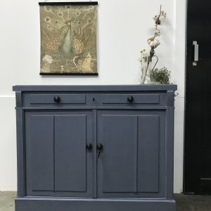 Vintage grote commode blauw south bay blue H94,5 x B107 x D48 foto 1